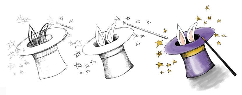 """Ilustración """"la Caixa"""" Melies"""