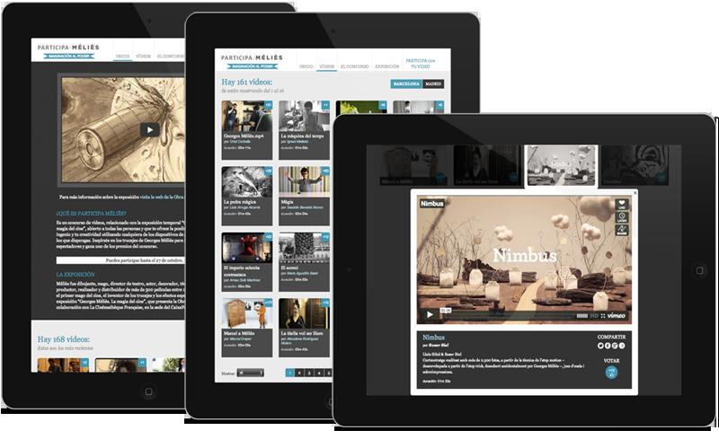 iPad Participa Méliès. Diseño web