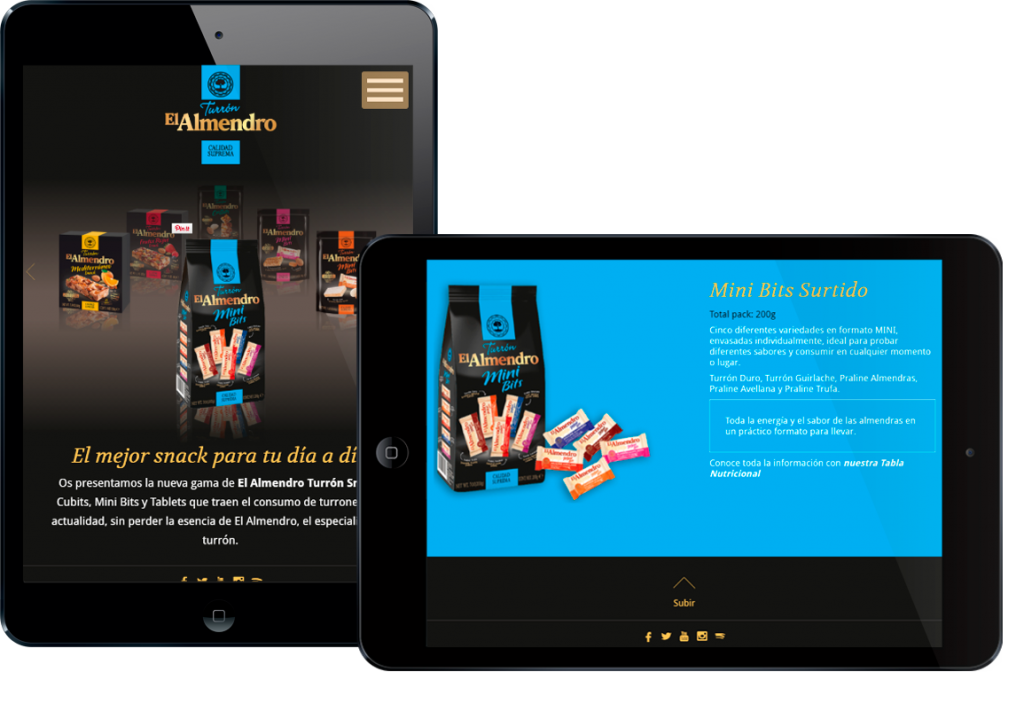 diseño web - Ipad- Snacks El Almendro