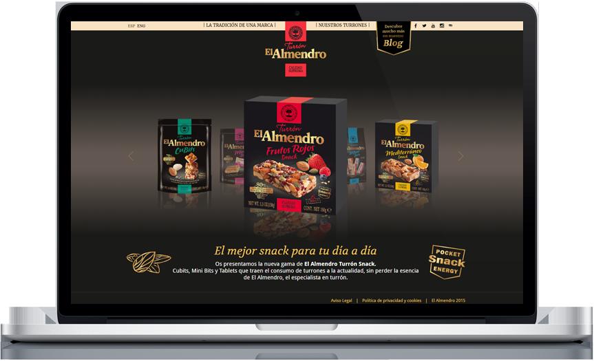 diseño web - Snacks El Almendro