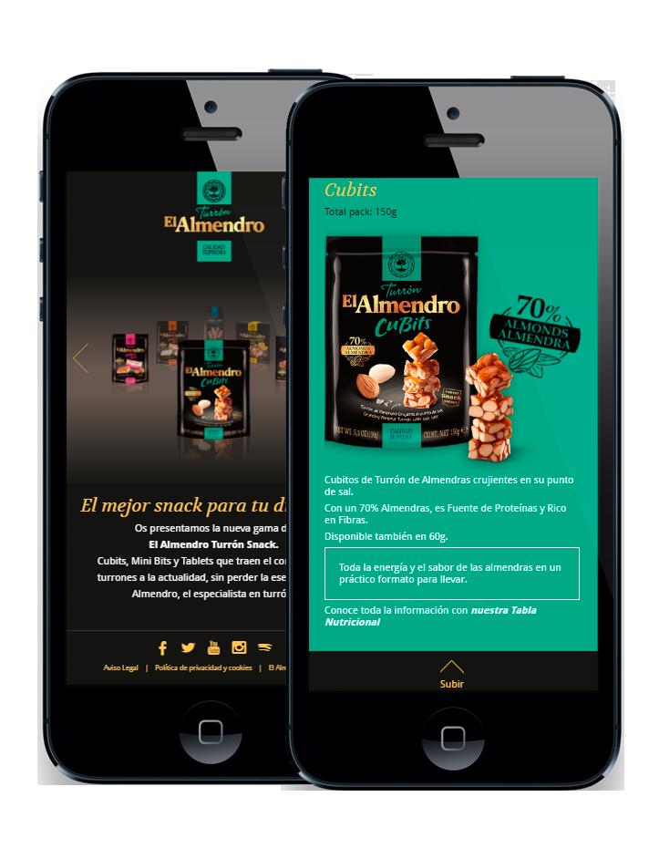 diseño web - SmartPhone- Snacks El Almendro
