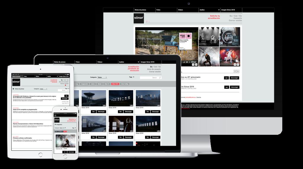 diseño intranet de prensa Sónar 2018